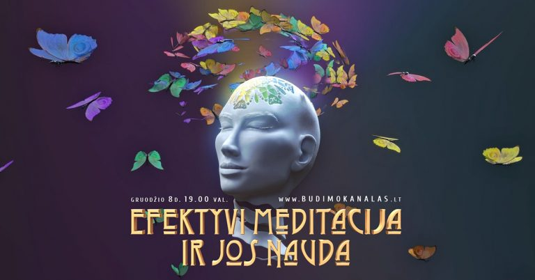 Paulius Daukšas Budimo Kanalas Webinaras Efektyvi meditacija ir jos nauda